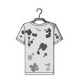 dirty things dry cleaning single icon in outline vector image