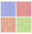 Doodle circles seamless vector image vector image