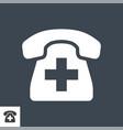 emergency phone icon vector image vector image