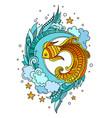 fish among seaweed vector image vector image