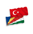 flags turkey and seychelles on a white vector image