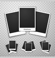 foto frame collage on a transparent background vector image vector image