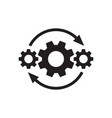 gears wheel with arrows - concept black icon vector image