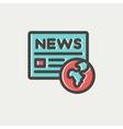 Global news thin line icon vector image vector image