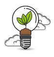 green eco bulb light vector image vector image