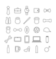 Icons man vector image