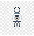 inhalator concept linear icon isolated on vector image