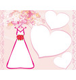 invitation template with beautiful wedding dress vector image