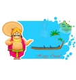 King Mahabali enjoying Boat Race of Kerla vector image vector image