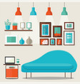 livingroom design vector image vector image
