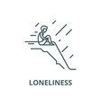 loneliness line icon linear concept vector image vector image