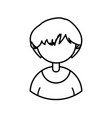 male character avatar people line icon vector image
