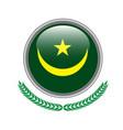 mauritania flag button mauritania flag icon of vector image vector image