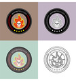 Motorcycle Club Logo Set Vintage and Retro vector image