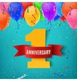 One year anniversary celebration background vector image