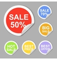 Paper sale stickers collection Best offer vector image vector image