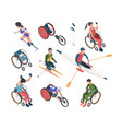 paralympic games athletic disability persons in vector image vector image