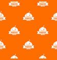 pirate bomb pattern orange vector image vector image
