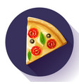 pizza slice icon vector image vector image