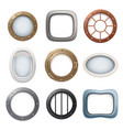plane window ship boat round glass portholes vector image