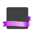 purple ibbon and blank black banner vector image vector image