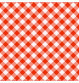 red and white seamless checkered tablecloth vector image vector image