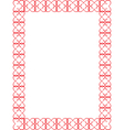 red Valentines Day border vector image vector image