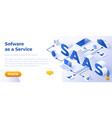 saas - isometric website vector image vector image