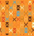 seamless orange abstract retro pattern vector image vector image