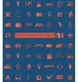 Set of delivery icons vector image vector image