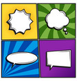 set of retro thinking speech bubbles in pop art vector image vector image