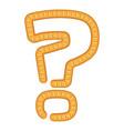 sign question bread icon cartoon style vector image