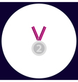 silver medal computer symbol vector image vector image