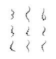 smell aroma circle set vector image vector image