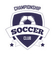 soccer club championship promotional monochrome vector image vector image