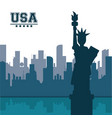 statue of liberty united states usa new york city vector image vector image