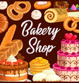 sweets desserts and pastry food vector image