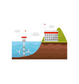 tidal power station energy production obtained vector image vector image