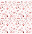Valentine seamless pattern vector image