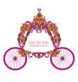 vintage floral carriage invitation vector image vector image