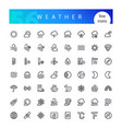 weather line icons set vector image vector image