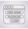 website login form icon vector image