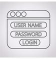 website login form icon vector image
