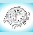 wrist watch sketch simple line vector image