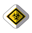 yellow metal biohazard warning sign icon vector image vector image