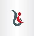disabled handicap man symbol vector image