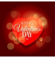 loving heart Background template greeting card vector image