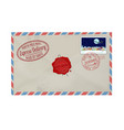 letter from santa claus with stamps and postage vector image