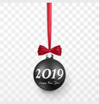 2019 christmas and new year background with black vector image