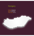 3d map of Hungary vector image vector image